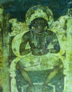 medytacja - freski, Ajanta