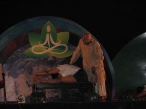 BKS Iyengar podczas prezentacji