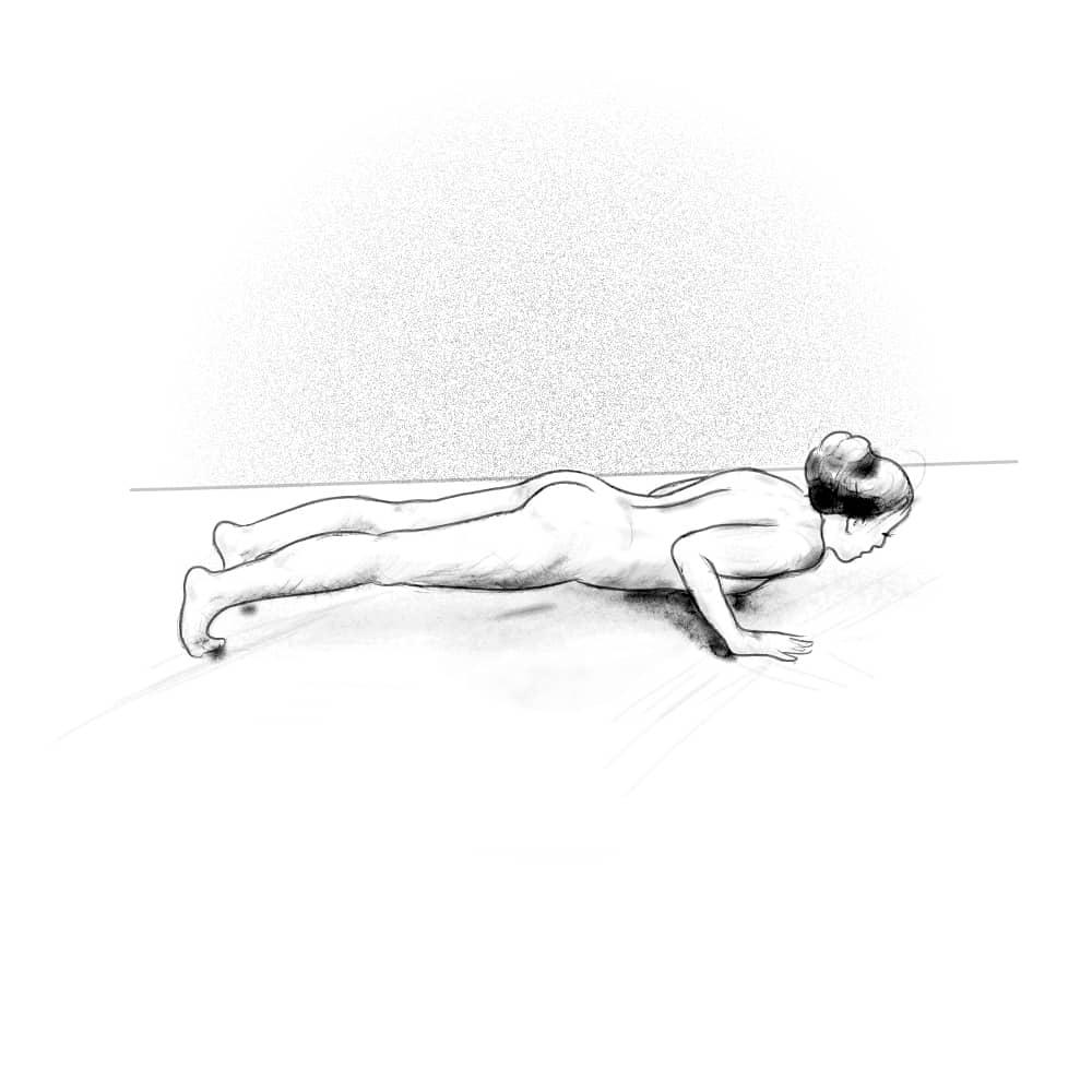 Pozycje jogi – pozycja kija na czterech kończynach